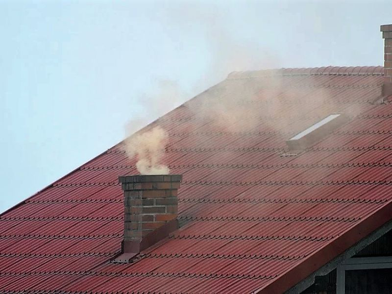 smog komin dym
