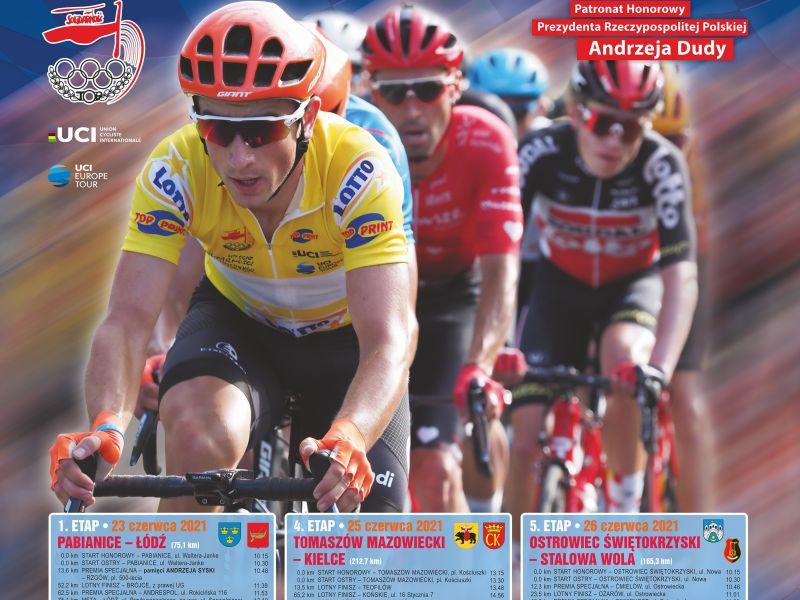 Na zdjęciu plakat wyścigu