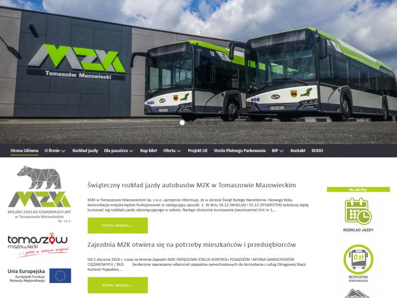 MZK ma nową stronę internetową