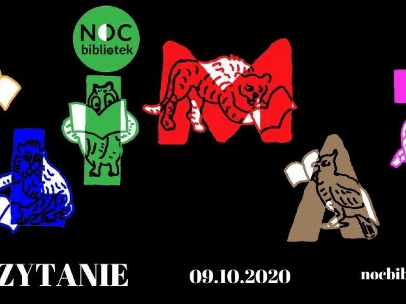 plakat przedstawie napis KLIMAT na czarnym tle litery są każda w innym kolorze i mienią się czytającymi zwierzętamia
