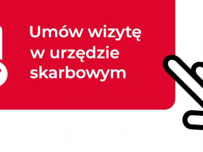 Na zdjęciu baner Urzędu Skarbowego reklamujący usługę