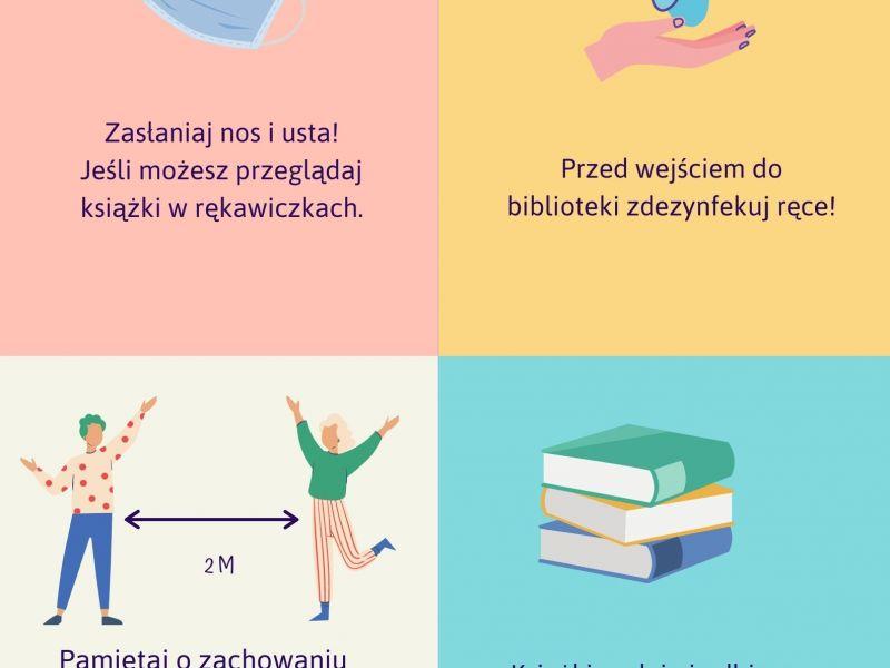 MBP Tomaszów Mazowiecki, udostępnianie zbiorów, koronawirus