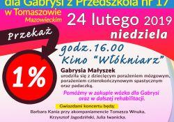 Koncert charytatywny dla Gabrysi
