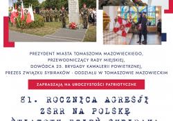 Upamiętnienie rocznicy agresji ZSRR na Polskę